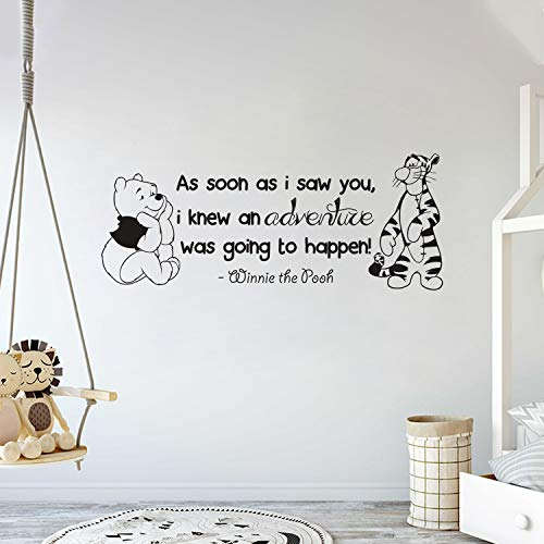 Winnie Pooh & Tigger - As Soon As I Saw You Quote Baby Room Wall Decal- Decal For Baby's Room (Wide 35