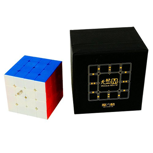 CuberSpeed QiYi Mini WuQue 4x4 M stickerless Speed cube Mofangge Mini Wuque Magnetic magic cube