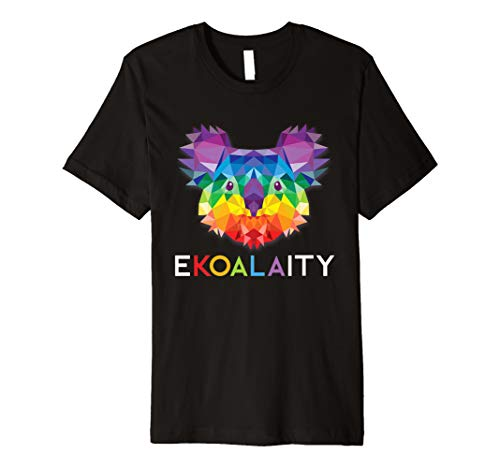 (EKOALAITY CUTE KOALA Rainbow Flag Gay Pride Month Gift Premium T-Shirt)