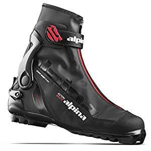 Alpina Sports Ask Skate Cross Country Skate Ski Boots, Black/Red, Euro 46