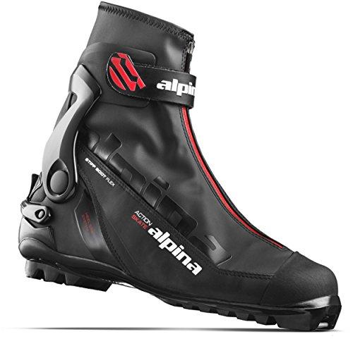 Alpina Sports Ask Skate Cross Country Skate Ski Boots, Black/Red, Euro 46 (Atomic Skis Race Skate)