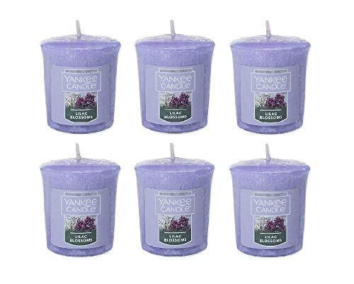 (Yankee Candles Samplers Lilac Blossoms Votive Candle Set of 6)