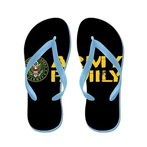 Esercito Di Noi: Esercito Famiglia (nero E Oro) - Infradito, Divertenti Sandali Infradito, Sandali Da Spiaggia Blu Caraibico