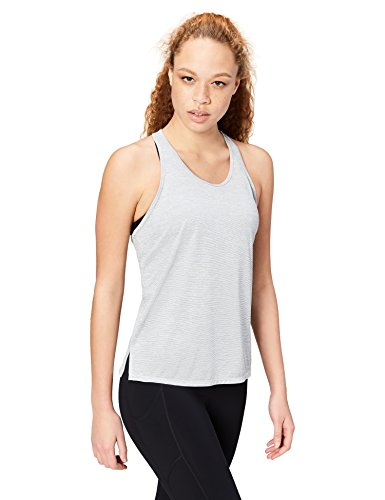 Amazon Brand - Core 10 Women's 'Lighter Than Air' Performance Racerback Tank (XS-XL, Plus Size 1X-3X), Light Grey Heather, Small (Top 10 Best Flashlights)