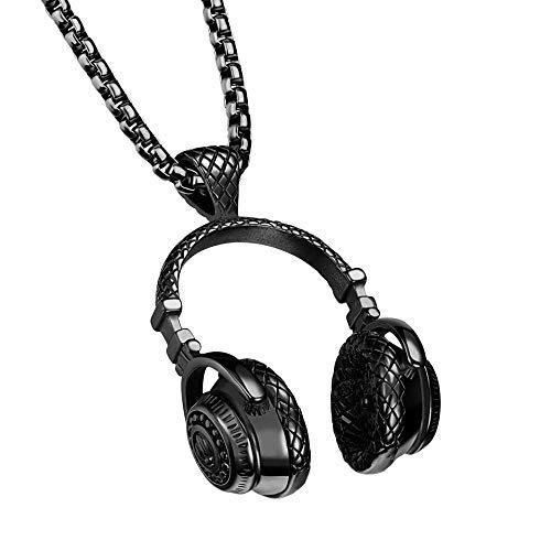 Hip Hop Punk Style Microphone Earphone Pendant Necklace