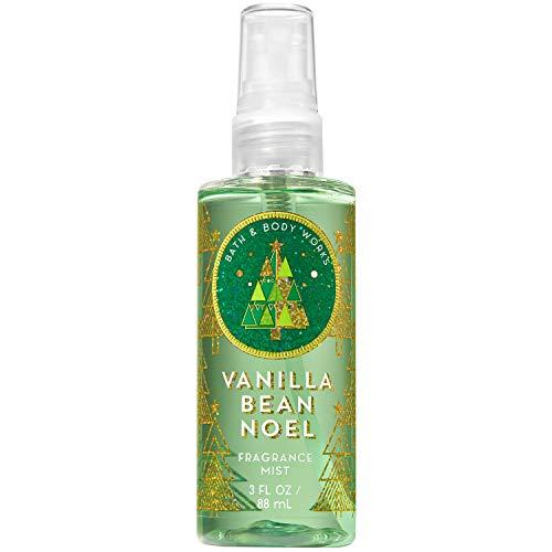 Bath and Body Works VANILLA BEAN NOEL Travel Size Fine Fragrance Mist 3 Fluid Ounce Bath Body Works Vanilla Bean