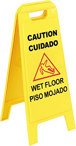 Carlisle 3690000 Wet Floor Sign in English/Spanish,  25
