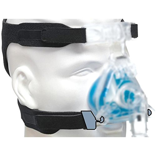 UNIVERSAL HEADGEAR for Cpap Masks Replaces ResMed & Respironics straps - 4 point connection compatible with most nasal and full-face sleep apnea masks (Mask not included)
