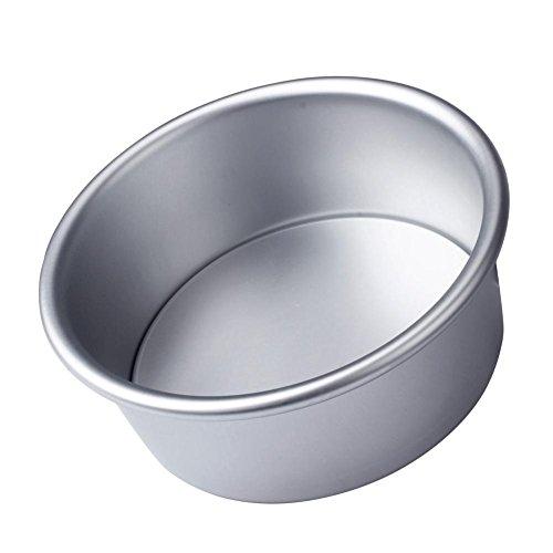 Pulison(TM) 4'' Aluminum Alloy Non-stick Round Cake Live bottom Baking Mould Pan Bakeware Tool SAP (4 Inch Round Cake Pan)