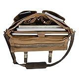 KomalC 16 Inch Buffalo Leather Briefcase Laptop