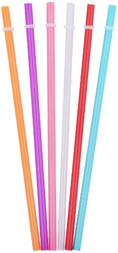 Tiki Tumblers Reusable Drinking Straws 6 Piece - Fits Tervis, Signature & Other Tumbler Brands Straws ()