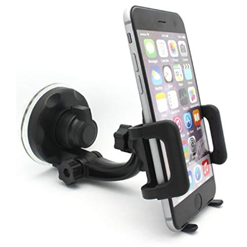 (Car Mount Windshield Phone Holder Swivel Cradle Compatible with BLU Studio X8 HD, S1, R1 Plus, Pure View, Life One X3, Grand M - CAT S48c S41 - Coolpad Illumina, Defiant, Canvas R8Z)