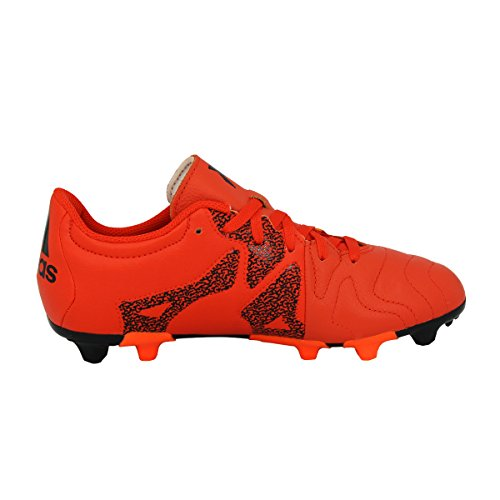 Adidas Performance X 15.3 FG/AG J LEAT Scarpe da Calcio Pelle Arancione per Bambini