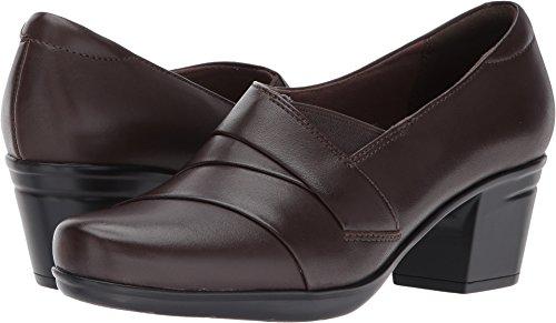 Clarks Women's Emslie Warbler Pump,Dark Brown Leather,8 M US