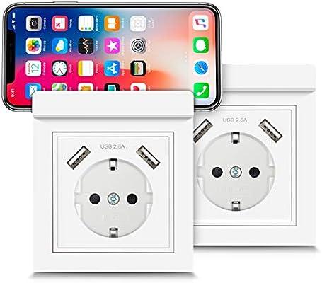 USB Enchufes con Soporte para Teléfono, Kaifire Toma de Corriente ...