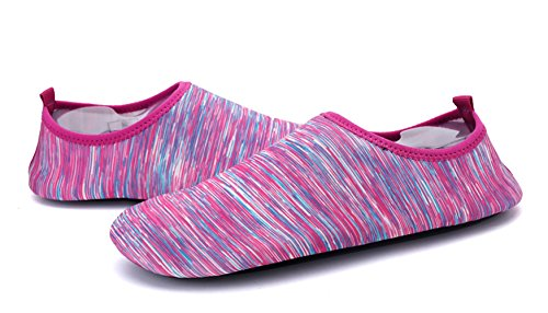 Demetry Unisex Quick-Dry Wasserschuhe Leichte Aqua Socken zum Schwimmen, Wandern, Yoga, Strand, Wasserpark Lila