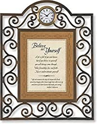 Believe in Yourself Table Clock Framed Table Clock General Verses Paper