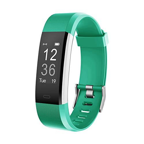 moreFit Fitness Tracker, Slim HR Plus Heart Rate Smart Bracelet Pedometer Wearable Waterproof Activity Tracker Watch?Sliver-Green
