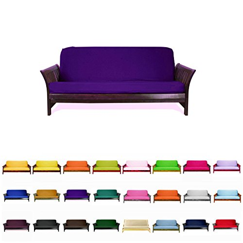 Magshion@Futon Cover Slipcover (Purple, Full (54x75 in.))