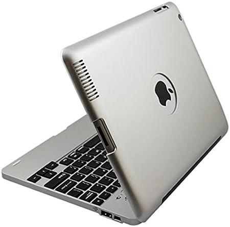 i-CaseBoard icase-02G - Funda con teclado QWERTY español para Ipad 2 y el nuevo iPad 3, Bluetooth 3.0, color gris plateado