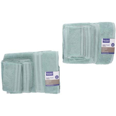 Better Homes and Gardens Thick and Plush 6-Piece Cotton Bath Towel Set - AQUIFER from Better Homes and Gardens..