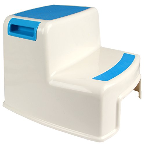 Hierkryst Plastic Bathroom Child 2 Step Stool For Kitchen Non Slip Kids Step Stool For Bathroom: bathroom step stool for kids