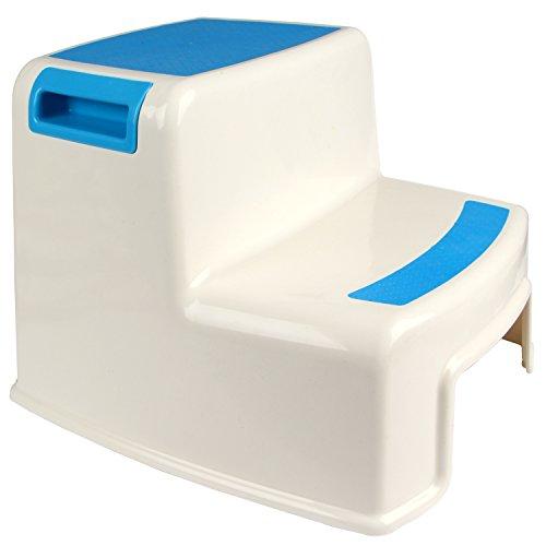 Hierkryst Plastic Bathroom Child 2 Step Stool For Kitchen Non Slip Kids Step Stool For Bathroom