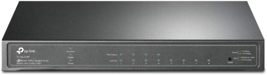 TP-Link TL-SG2008P Conmutador Inteligente Jetstream de 8 Puertos Gigabit con 4 Puertos PoE+