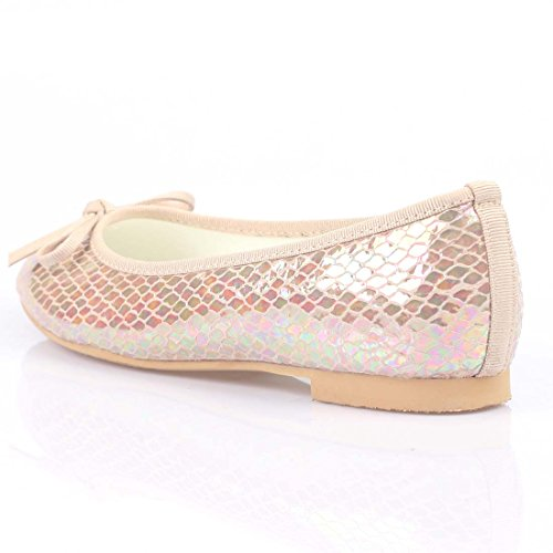 iloveflat Womens Casual Ballet Leather Comfort Soft Slip On Flats Shoes New Colors Beige Snake HuT2Yw