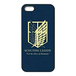 the Case Shop- Customizable Attack On Titan iPhone 5 and iPhone 5S TPU Rubber Hard Back Case Cover Skin , i5xq-225