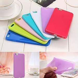 YULIN Funda Trasera - Color Sólido - para iPhone 6 ( Rojo/Blanco/Verde/Azul/Rosa/Púrpura/Colores Surtidos , TPU ) , Light Blue