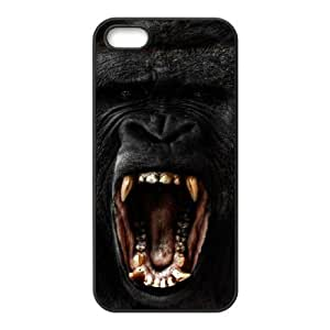 Customized Durable Case for Iphone 5,5S, Black Gorilla Phone Case-703783