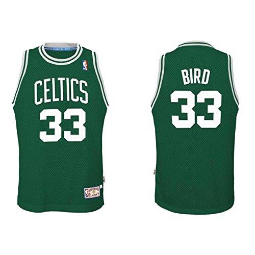 Adidas Boston Celtics Larry Bird #33 Kelly Green Hardwood Classics Youth Swingman Jersey - Youth Medium