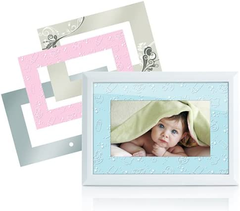 Memorex MDF0712-C 7-Inch Digital Photo Frame with 4 Frame Inserts