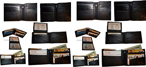 Man's IDs Card Billfold 12 Purse Wallet of NWT Leather Change Lot 3 10 Bifolsd 2 wIzPqW0