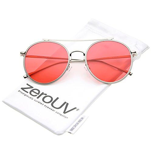 zeroUV Aviator Sunglasses Crossbar Colored