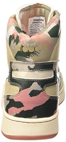 Diadora Mi Basket Camo - Zapatillas abotinadas Unisex adulto Beige Taupe/Verde Scuro
