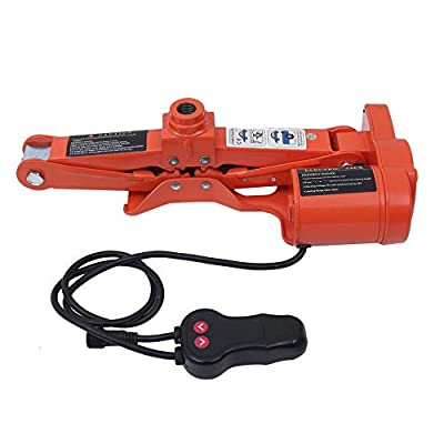 3 Ton Electric Car Scissor Jack Lift 12V DC Automotive Floor Lift Wrench Tire Change Repair Tool