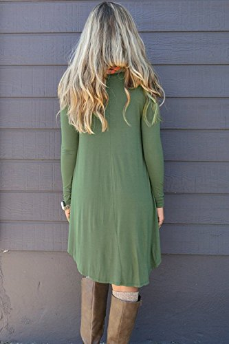 DEARCASE-Womens-Long-Sleeve-Casual-Loose-T-Shirt-Dress