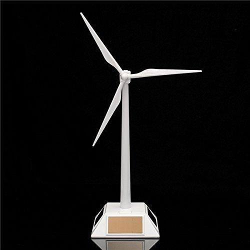 New Plastic Desktop Model Solar Powered Windmills Wind Turbine Power Tool -