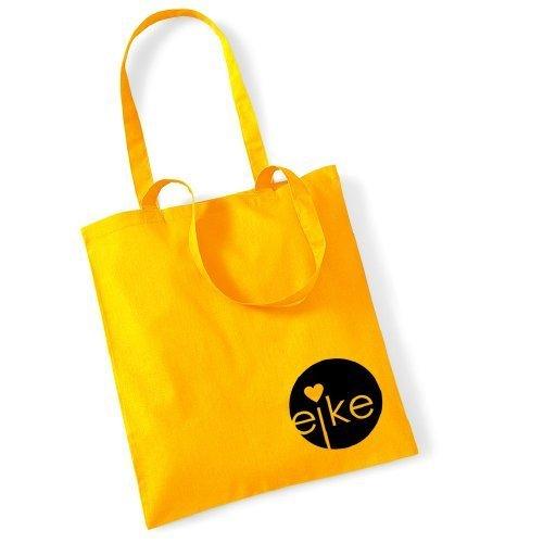 Eike Tasche mit langem Henkel - Gelb / Schwarz - Wien Berlin London Mailand Paris New York