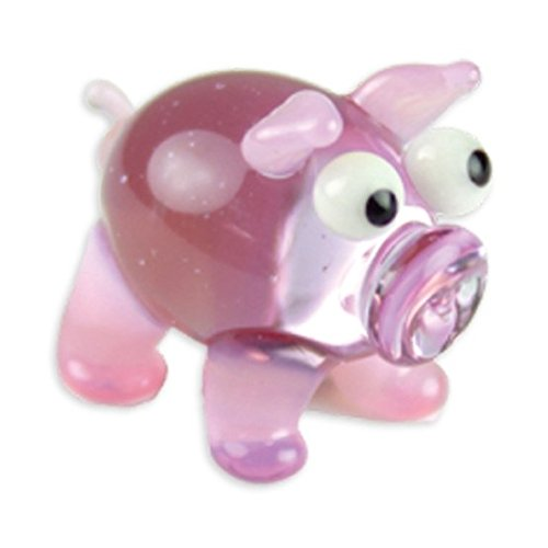 Looking Glass Bacon The Pig Miniature Glass Collectible, Pack of 1