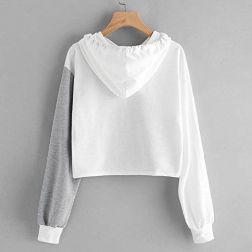 0f8cd2cae25 Ankola Cropped Hoodies, Women's 2017 Fashion Long Sleeve Patchwork ...