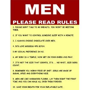 P2219 MEN PLEASE READ RULES FUNNY POSTER PRINT: Amazon co uk