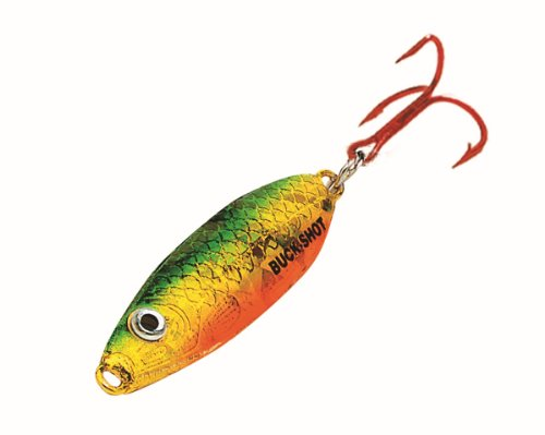 Northland BRS4-93 1/4-Ounce Buck-Shot Rattle Spoon, Super-Glow Redfish ()