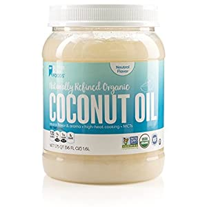 BetterBody Foods Naturally Refined Organic Cooking Coconut Oil with Neutral Flavor And Aroma, 56 Ounce