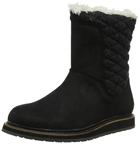 Helly Hansen Women's Seraphina Winter Boot, 991 Jet Black/Angora/Black Gum, 8
