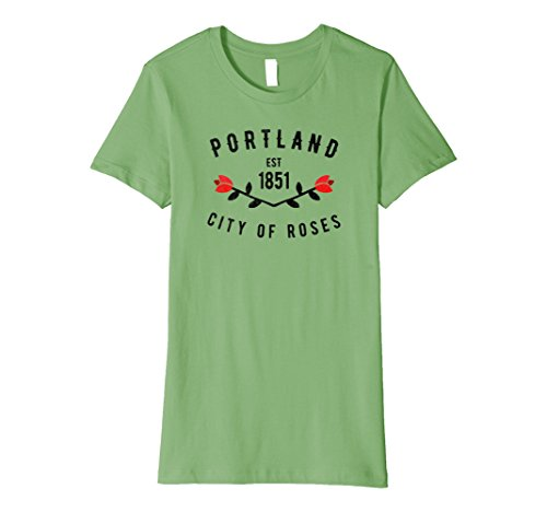 Womens Portland City Of Roses Oregon Pdx Pacific Northwest Tshirt Medium Grass