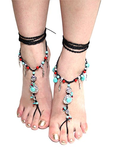 Bohemian Turquoise Precious Barefoot Sandals product image