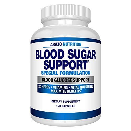Blood Sugar Support Supplement – 20 Herbs & Multivitamin for Blood Sugar Control with Alpha Lipoic Acid & Cinnamon – 120…